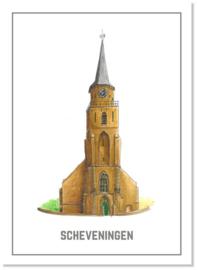 Ansichtkaart Oude Kerk   Studio Scheveningen