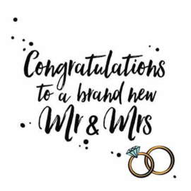Congratulations to a brand new mr & mrs