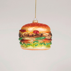Big Fat Burger Shaped Bauble | Sass & Belle