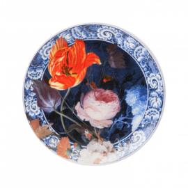 Bord 'Bloemen van de Gouden Eeuw' middel - Heinen Delfts Blauw