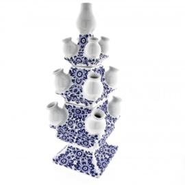 Tulpenvaas bloemmotief 3-delig - Heinen Delfts Blauw