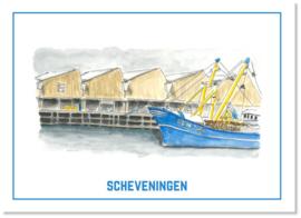 Ansichtkaart de Visafslag   Studio Scheveningen