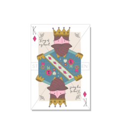 King of my heart | Valentijnskaart | Studio Scheveningen