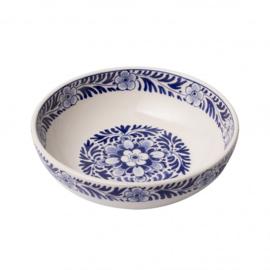Tapasschaaltje met bloemdessin groot - Heinen Delfts Blauw