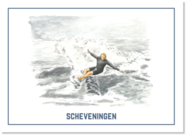 Ansichtkaart Surfer   Studio Scheveningen