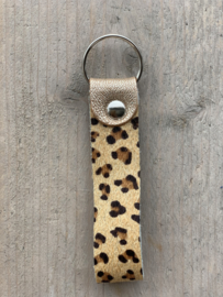 Sleutelhanger cheetah brons