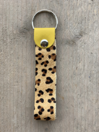 Sleutelhanger cheetah geel