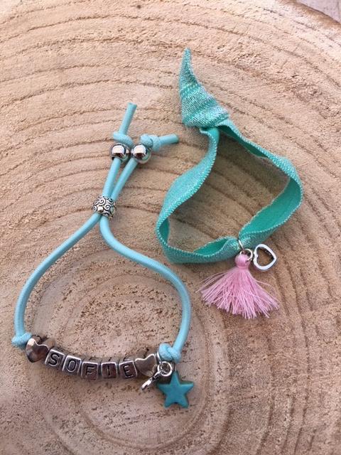 Armbandenset naam Sofie mint