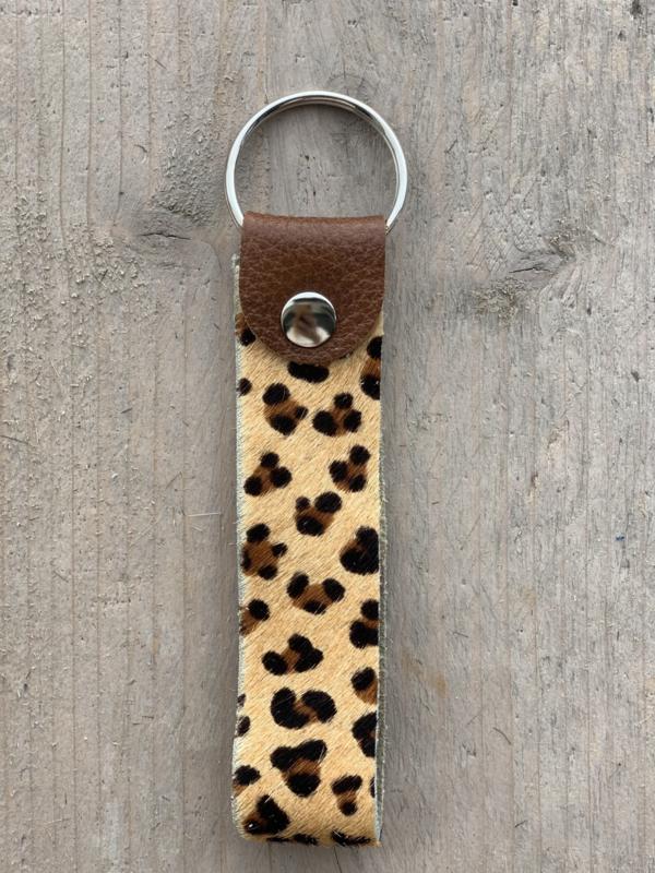 Sleutelhanger cheetah bruin