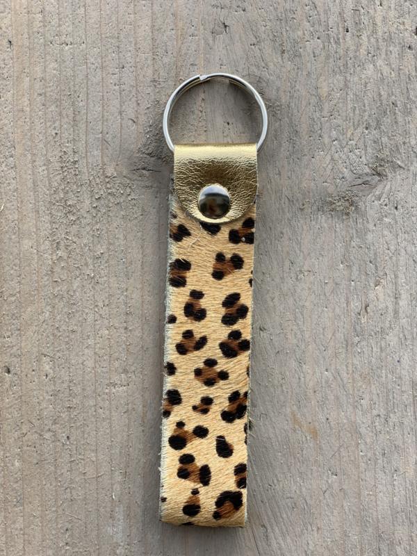 Sleutelhanger cheetah goud