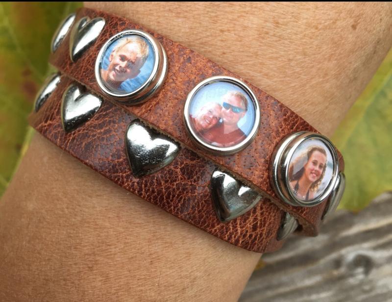 Armband dubbel met 3 fotoclicks