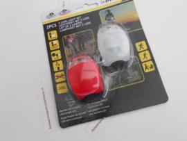 Dunlop Verlichtingsset Batterij Led Rood/wit