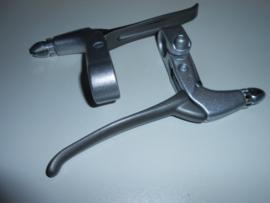 Remgreep set Saccon satin/titanium
