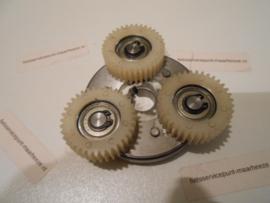 Tandwielset motor met onderplaat Voorwiel rollerbrake