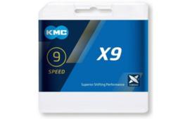 Ketting KMC X9 - 9 speed grijs