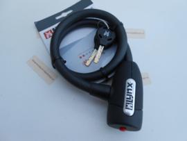 Kabelslot met sleutel. 60cm x 12mm zwart