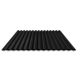 Stalen golfplaat mat zwart