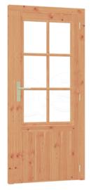 Douglas kozijn, enkele deur met enkel glas