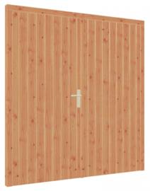 Douglas kozijn, dubbele deur hout