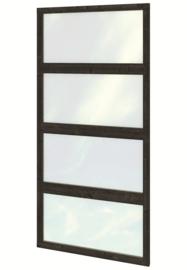 Glaswand zwart