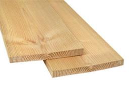 Douglas plank 3x30cm fijn gezaagd