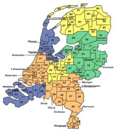 Bezorging op locatie, postcode gebieden