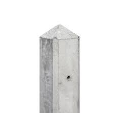 Lichtgewicht betonpalen wit/grijs 7.5x7.5cm