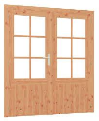 Douglas kozijn, dubbele deur met enkel glas