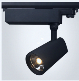 Tracklight LED 28 W 3000K 24° pour rail à 3 phases