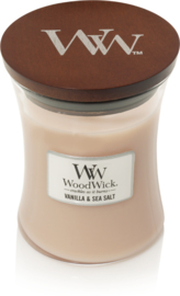 M Woodwick Candle VANILLA & SEA SALT
