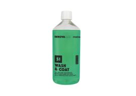 Wash & Coat 1 liter / all in one shampoo met enzymen, afdichters en bescherming.