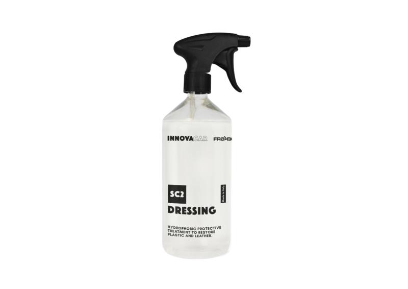 Dressing 500ml / verlevendiger en waterafstotende  bescherming voor plastiek  en leer.