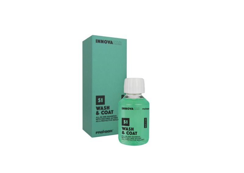Wash & Coat 100ml / all in one shampoo met enzymen, afdichters en bescherming.