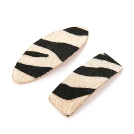 Haarclips zebra