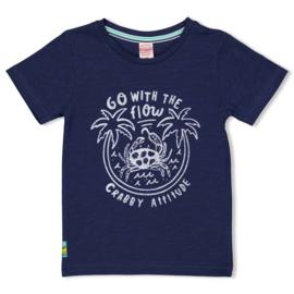 Sturdy t-shirt indigoblauw- Smile & Wave