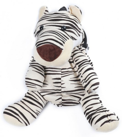 Pluche  'Zebra' rugzak wit