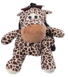 Pluche  'Giraffe' rugzak bruin