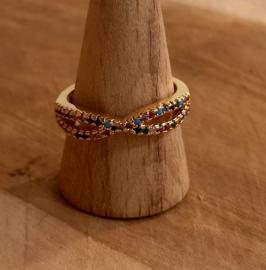 Ring goud 'Rainbow'