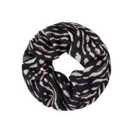 Scrunchie 'animal fever' zwart