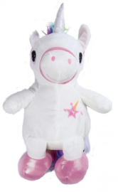 Pluche  'Unicorn' rugzak wit
