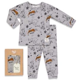 Feetje pyjama 'Roar Riley' grijs