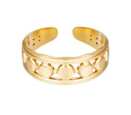 Ring goud cirkels