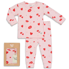 Feetje pyjama 'Love Lesley' roze
