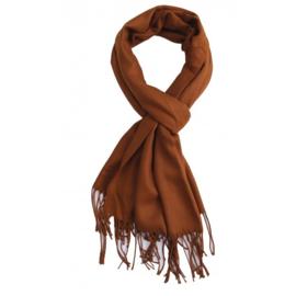 Sjaal uni donkerbruin