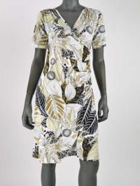 Overslag jurk wit print Angelle Milan