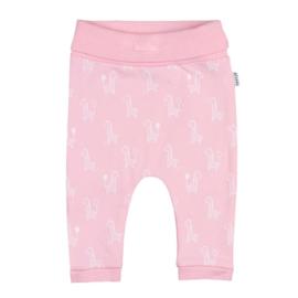 Feetje broek roze melange 'Giraffe'