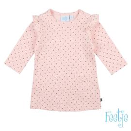 Feetje tuniek/jurkje roze dots