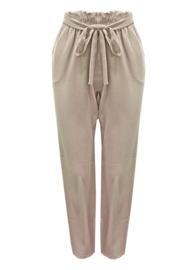 Strikpantalon beige