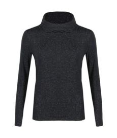 Coltrui/shirt zwart glitter