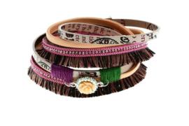 Ibiza wikkelarmband roze magneetsluiting